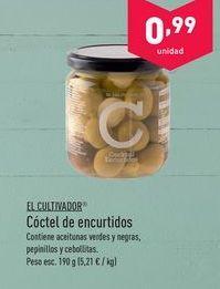 Oferta de Encurtidos y conservas en vinagre El Cultivador por 0.99€