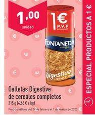 Oferta de Galletas Digestive Fontaneda por 1€
