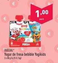 Oferta de Yogur de sabores Pascual por 1€