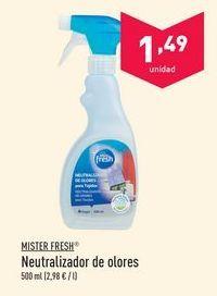 Oferta de Elimina olores mister fresh por 1.49€