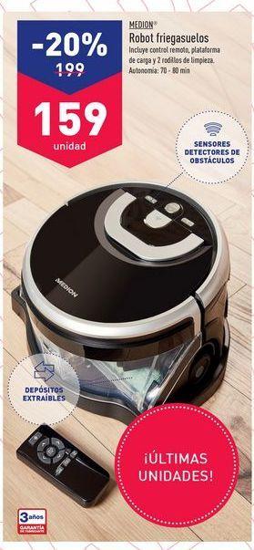 Oferta de Robot de limpieza Medion por 199鈧�