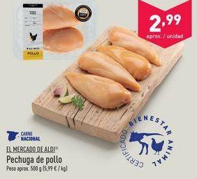 Oferta de Pechuga de pollo aldi por 2.99€