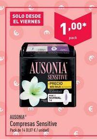 Oferta de Compresas Ausonia por 1€