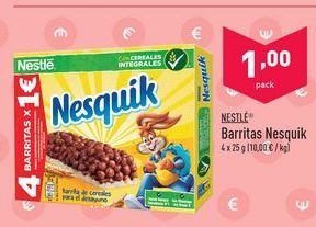 Oferta de Barritas Nesquik por 1€