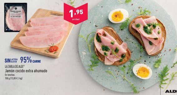 Oferta de Jamón cocido extra aldi por 1.95€