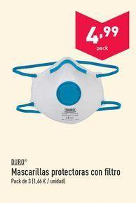 Oferta de Mascarillas de protección laboral Duro por 4.99€