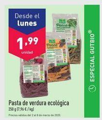 Oferta de Pasta con verduras gutbio por 1.99€