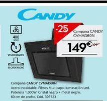 Oferta de Campanas extractoras Candy por 149€