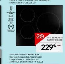Oferta de Placa de inducción Candy por 229€