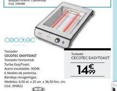 Oferta de Tostadora cecotec por 14.99€
