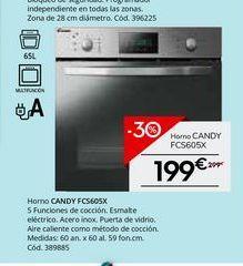 Oferta de Horno multifunción Candy por 199€