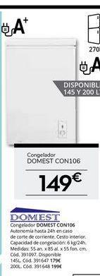 Oferta de Congeladores Domest por 149€