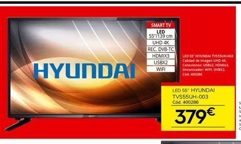 Oferta de Tv led Hyundai por 379€