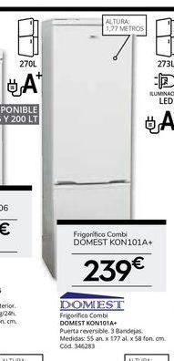 Oferta de Frigorífico combi Domest por 239€