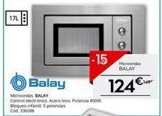 Oferta de Microondas Balay por 124€