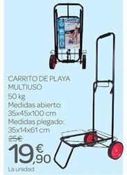 Oferta de Carrito de playa multiuso por 19.9€