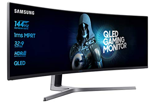 Oferta de Samsung C49HG90DMU - Monitor Curvo Gaming 49'' (QLED, 2 x Full HD, 32:9, 144 Hz, 1 ms, HDR, 3000:1, 1800R, FreeSync) por 804.99鈧�