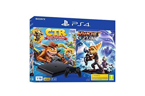 Oferta de Sony PlayStation 4 - PS4 1TB + Crash Team Racing + Ratchet & Clank por 289€