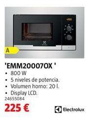 Oferta de Microondas Electrolux por 225€