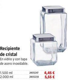 Oferta de Bote de cristal por 4.45€