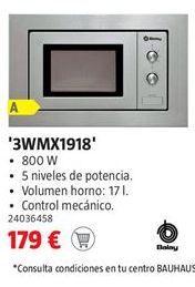 Oferta de Microondas Balay por 179€