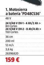 Oferta de Motosierra a batería por 159€