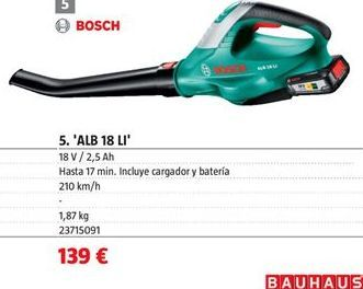 Oferta de Soplador Bosch por 139€