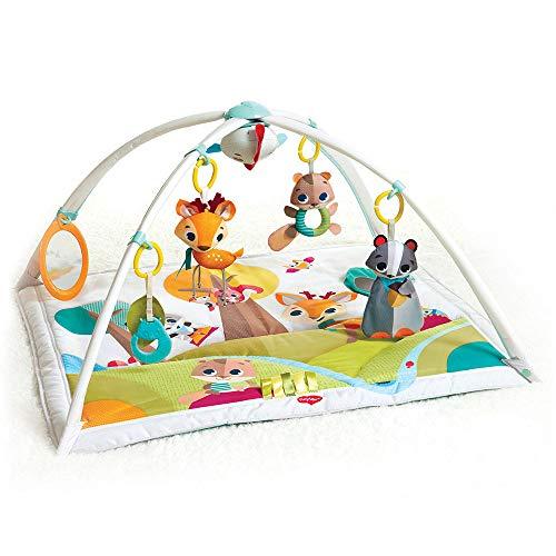 Oferta de Tiny Love GYMINI DELUXE INTO THE FOREST - Manta musical de juegos para bebés, con 18 actividades para el desarrollo, apta desde el nacimiento, 88 x 78 x 45 cm, multicolor por 51.43€
