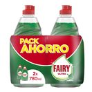 Oferta de FAIRY lavavajillas mano concentrado ultra botella 2 x 780 ml por 3.99€