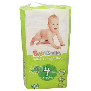 Oferta de BABYSMILE pañales 8-15 kgs talla 4 paquete 64 uds por 6.99€