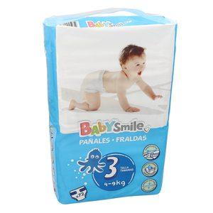Oferta de BABYSMILE pañales 4- 9 kgs talla 3 paquete 72 uds por 6.99€