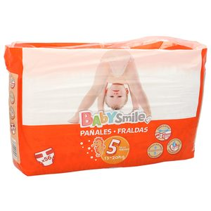 Oferta de BABYSMILE pañales 13-20 kgs talla 5 paquete 56 uds por 6.99€