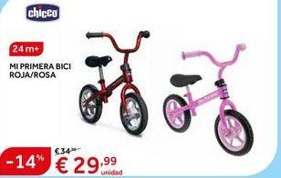 Oferta de Bicicleta infantil Chicco por 29.99€