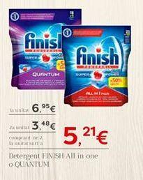 Oferta de Detergente lavavajillas Finish por 6.95€