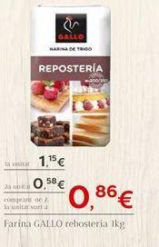 Oferta de Harina de trigo Gallo por 1.15€