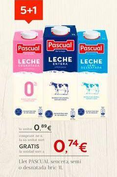 Oferta de Leche Pascual por 0.89€