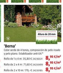 Oferta de Césped artificial por 8,95€