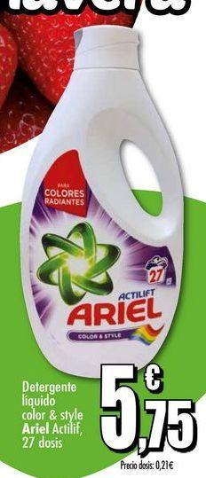 Oferta de Detergente líquido Ariel por 5.75€