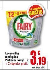Oferta de Detergente lavavajillas Fairy por 3.19€