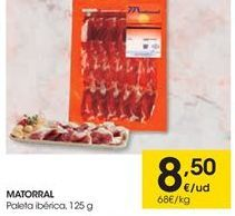 Oferta de Paleta ibérica Matorral por 8.5€