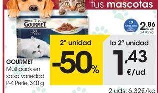 Oferta de Comida para gatos Gourmet por 2.86€