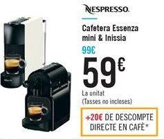 Cafetera Essenza mini & Inissia
