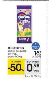 Oferta de Queso Cheestrings por 1,97€