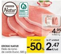 Oferta de Lomo de cerdo eroski natur por 4.95€