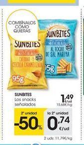Oferta de Snacks sunbites por 1.49€