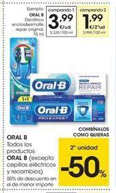 Oferta de Dentífrico Oral B por 3.99€