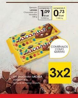 Oferta de Chocolate Lacasa por 1.09€