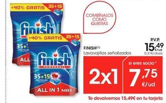 Oferta de Detergente lavavajillas Finish por 15.49€