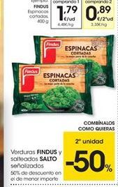 Oferta de Espinacas Findus por 1.79€