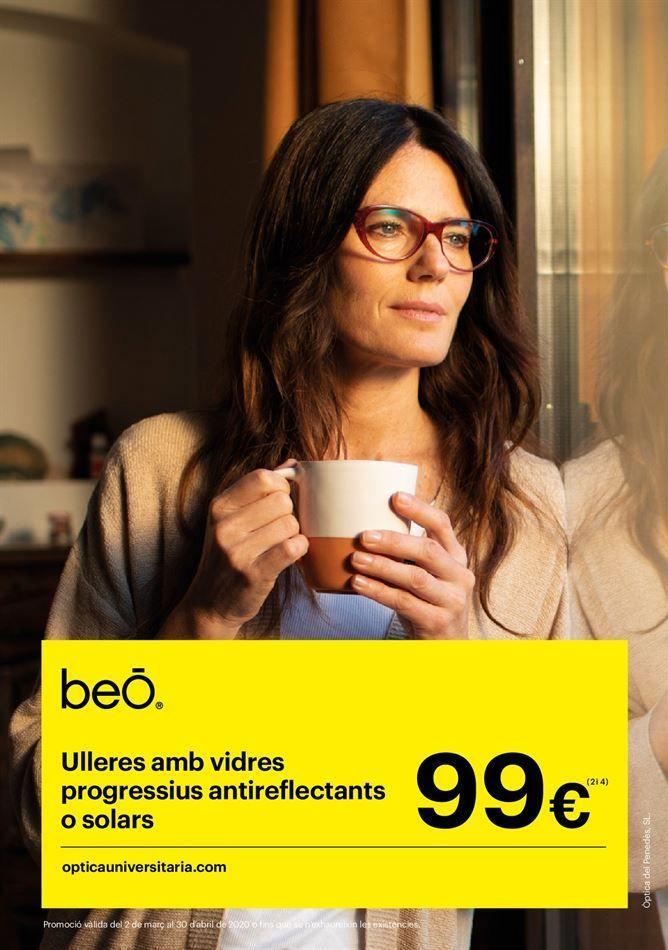 Oferta de Gafas beO con vidrios progresivos antireflectantes o solares por 99€